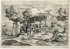 Antique Master Print-REVELRY-CORNUCOPIA-ABUNDANCE-Campagnola-Corneille-ca. 1640