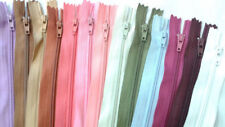 25 YKK Nylon Zippers 20 Inches Coil #3 Closed Bottom Assorted Colors