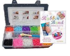 3000 coloré loom élastiques bracelet making kit de démarrage diy clips & Livre