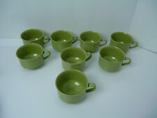 8 PC Vintage AVOCADO GREEN LENOTEX  Mugs,