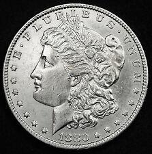 1880-o Morgan Silver Dollar.  A.U.  92559  (INV.E)