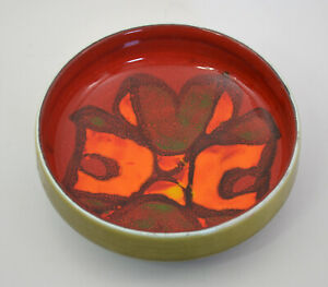 Poole Art Pottery 86 Made in England Small Nut / Candy Dish Retro 70s Colours