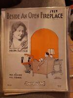 Vintage Sheet Music 1929 Beisde an Open Fireplace Vaughn DeLeath Paul Denniker