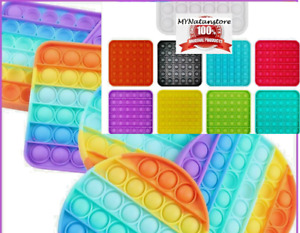 Push Bubble Pop it Sensory Fidget Toy Stress Relief Kids Tiktok Family Game Gift