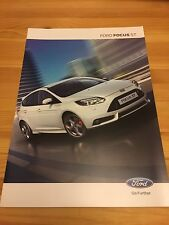 Ford Focus ST (ST only) UK Car Sales Brochure 2012, Owners + Collectors Item