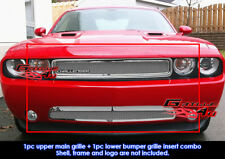 Fits Dodge Challenger Stainless Steel Mesh Grill Insert Combo 2011-2014