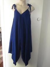 NEW.Stylish Plus Size Comfy Fit Royal Blue Romper Playsuit One Size Fits Sz16-20