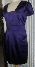 Striking Lined Shiny Purple NEXT Sheath Dress Size 14 Petite BNWT £49.00