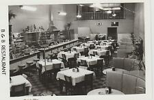 1940's RPPC The Interior B.& B. Restaurant in Cookeville, TN Tennessee PC White