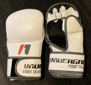 MMA Gloves White Training & Sparring Style MMA Gloves Hook and Loop Closure