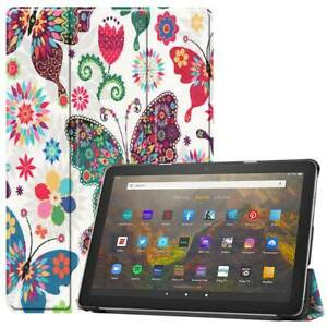 For Amazon Kindle Fire HD 10 Plus 2021 11th Gen Pattern Leather Smart Case Cover