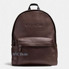 New Coach F54786 Mens Charles Backpack In Sport Calf Leather Mahogany NWT