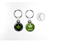 Legalize Marijuana Weed Protest Set of 2 Key Chains