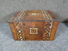 antique Travel Vanity set Box for Woman secret compartments