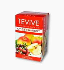 Tevive Apple & Cranberry Pure Ceylon Black Tea New 20 Foil Tea bags