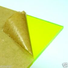 Acrylic Plexigrass Plastic Sheet Transparent Fluorescent Green  A4 size 2.5mm