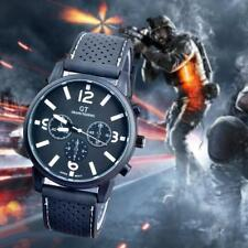 Sports Wrist Watch Mens Boy Racing Silicon Strap Quartz Running Watches White FT