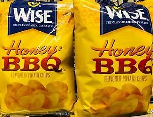 2 Bags Wise Honey BBQ Potato Chips  +*~*+ FAST FREE SHIPPING ! +*~*+