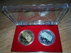 China gold and silver plated medallion-70th anniversary of second world war-