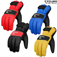Cycling Gloves Full Fingers MTB Winter Thermal Windproof Palm Protection Gloves