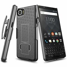 BlackBerry KEYone BLACK Case Kickstand Slim Phone Cover Combo Belt Clip Holster