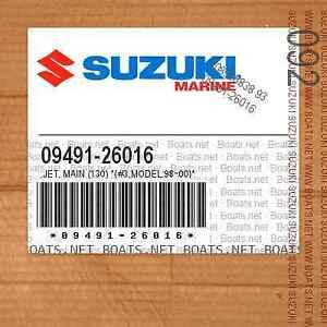 SUZUKI RICAMBI FUORIBORDO 09491-26016 GETTO CARBURATORE