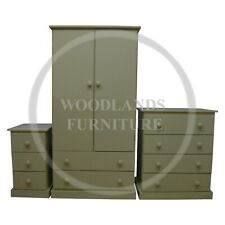 HAND MADE KIDDIES 3 PIECE BEDROOM SET IN APPLE GREEN (MANY COLOURS) ASSEMBLED