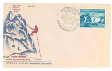 Mountains A11 FDC 1973 India 1v Indian Mountaineering