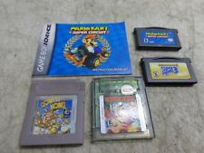 Gameboy Advance Games Lot Of 4 assorted Games mario & donkey kong