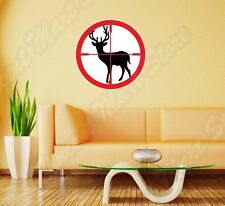 "Deer Hunting Hunter Aim Target Rifles Wall Sticker Room Interior Decor 22""X22"""
