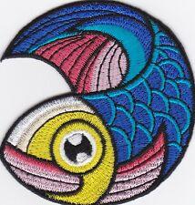 Aufnäher iron-on patch Bügelbild bunter Fisch Sternzeichen Mystik Karma-a7k2