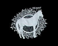 JAYCEE HORSE & WESTERN  EQUESTRIAN HORSE  PRINT  TEE SHIRT  - BLACK