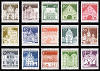 EBS Germany 1966 12 Centuries German Architecture COMPLETE SET Michel 489-503**