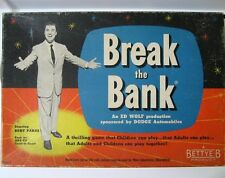 Break The Bank Game - Starring Bert Parks - A Bettye-B Product - Very Good