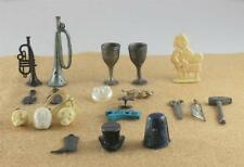 Lot 20 Cracker Jack Prize Skull Trumpet Thimble Butcher Goblet Violin Metal