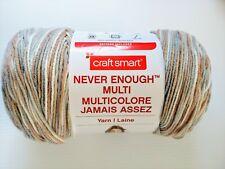 Big Craft Smart Never Enough Multi Yarn Light Grey Beige White 609yds Variegated