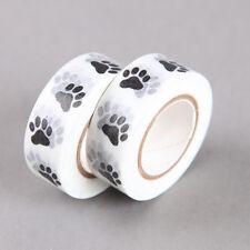 Animal Paw Black & White Washi Tape | Paper Tape | White Washi Tape