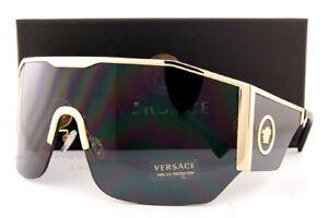 Brand New VERSACE Sunglasses VE 2220 1002/87 Gold/Gray For Men