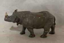 Vintage Metal Single Horn Rhino Rhinoceros Toy Animal Tin ? Mini figure 1 3/4�