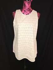 NWT Theory White Crochet Sleeveless Top Size Large