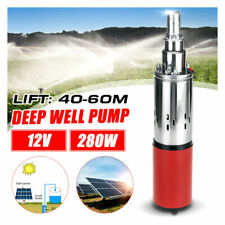280W DC 12v 40-60m Submersible Water Pump Solar Deep Well Pump 25mm Outlet NEW
