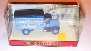 Matchbox Models of Yesteryear 1990 Y33A 1930 BLUE GOODYEAR MACK AC TRUCK NOB