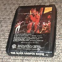 8 Track tape The Alice Cooper Show LIVE ALBUM classic rock LATE NITE BARGAIN vtg