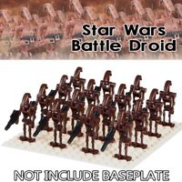 16X LEGO COMPATIBLE STAR WARS BATTLE DROID BROWN MINI FIGURES ARMY NEW