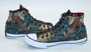 Converse DC Comics Book Superman Hi High Top Shoes Sneakers Size 11