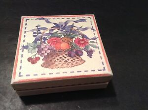 Cardboard Gift Box Flower Basket, Inside Says Thank You
