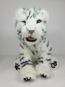 """2007 WowWee White SIBERIAN TIGER Interactive Electronic Soft Plush 15"""" Batteries"""