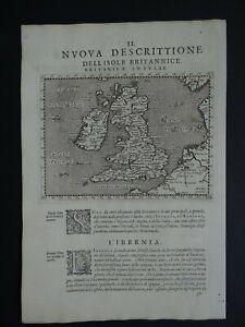 1598 MAGINI  Atlas map  BRITISH ISLES - Britanicae Insulae - England Ireland UK