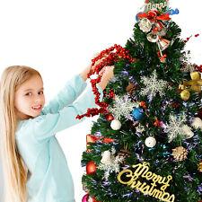 Árbol de Navidad 90cm Artificial Árbol con Soporte Fibra Óptica Verde Natural