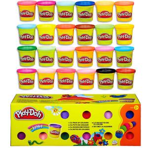 HASBRO Play-Doh Knete Set 24x 80g Dosen für Kinder kreatives Spielen